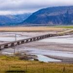 Road bridge across a flood plain in Iceland — Stock Photo #52174519