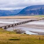 Road bridge across a flood plain in Iceland — Stock Photo #52174557