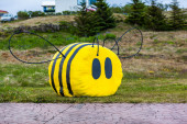Bumble bee artwork — Stockfoto