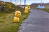 Yellow street art — Stock Photo