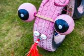Comical pink dragon — Stock Photo