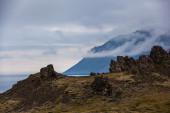 Rocky volcanic landscspe — Stock Photo
