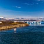 Glacier and meltwater at Joekulsarlon — Stock Photo #52182825