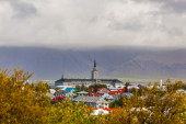 Rooftops of a church in Reykjavik — Foto de Stock