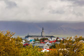 Rooftops of a church in Reykjavik — Stock Photo