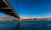 Bridge crossing a waterway in Iceland — Stok fotoğraf