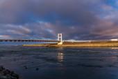 Supension bridge at Joekulsarlon — Stock Photo