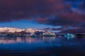 Large floating blue icebergs in Iceland — Stock Photo