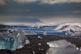 Chunks of ice from a retreating glacier — Foto Stock