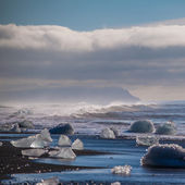 Chunks of ice from a retreating glacier — Stock Photo