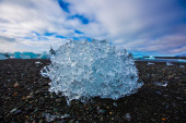 Large chunks of glacial ice — ストック写真