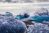 Large chunks of glacial ice — Stock Photo