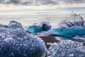 Large chunks of glacial ice — Stock Photo