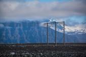 Electricity pylon in Iceland — Stock Photo