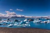 Glacier lagoon Jokulsarlon in Iceland — Foto Stock