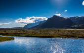 Meltwater river — Stock Photo