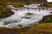 Time exposure of whitewater river in Iceland — Stock Photo