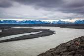 River formed by meltwater — Foto de Stock