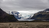 Glacier in the Icelandic mountains — Stock Photo