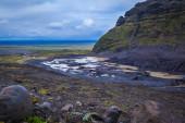 Volcanic mud and snow — Foto de Stock