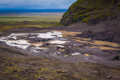Volcanic mud and snow — Foto Stock