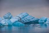 Témpanos flotantes azules — Foto de Stock