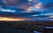 Glowing Icelandic sunset — Stock Photo