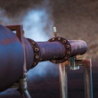 Pipes at a geothermal power plant — Stock Photo #52191627