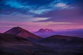 Sunset over Icelandic mountains — Stock Photo