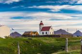 Quaint wooden rural church — Stock Photo