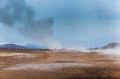 Geothermal vent letting off steam — 图库照片