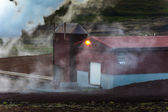 Geothermal plant in Hveraroend — Stock Photo