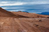 Dry barren volcanic landscape — Stock Photo