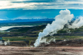Volcanic gases escaping — Stock Photo