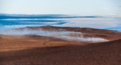 Escaping gases from geothermal vents — Stock Photo