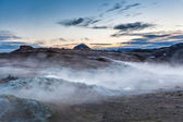 Geothermal fumaroles — Stock Photo