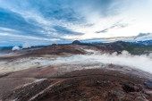 Geothermal activity in Hveraroend — Stock Photo