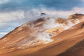 Geothermal landscape with fumaroles — Stock Photo