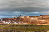 Active geothermal landscape — Stock Photo