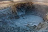 Boiling hot liquid mud — Stock Photo