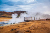 Geothermal activity from vents in Hveraroend — Stock Photo