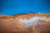 View of the geothermal region in Hveraroend — Stock Photo