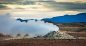 Active geothermal vent — Stock Photo