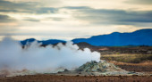 Active geothermal vent — Stock fotografie