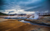 Geothermal activity from vents — Stock Photo