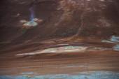 Boiling hot liquid mud in a fumarole — Stock Photo