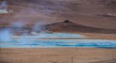Geothermal volcanic activity — Stock Photo