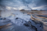 Active geothermal region — Stock Photo
