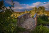 Bridge over a stream — Stock Photo