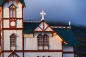 Picturesque timber framed church — Stock Photo